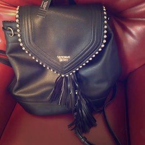 Victoria's Secret black backpack purse